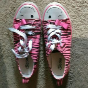 JUSTICE Girl shoes ZEBRA PINK size 2